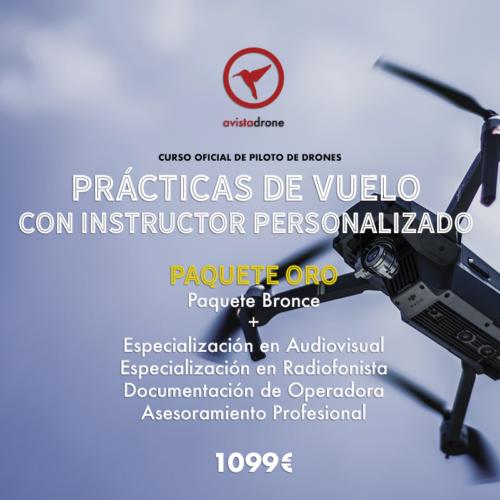 PAQUETE ORO: Curso de piloto de drones avanzado + Especialización Audiovisual + Curso Radiofonista + Documentación Operadora