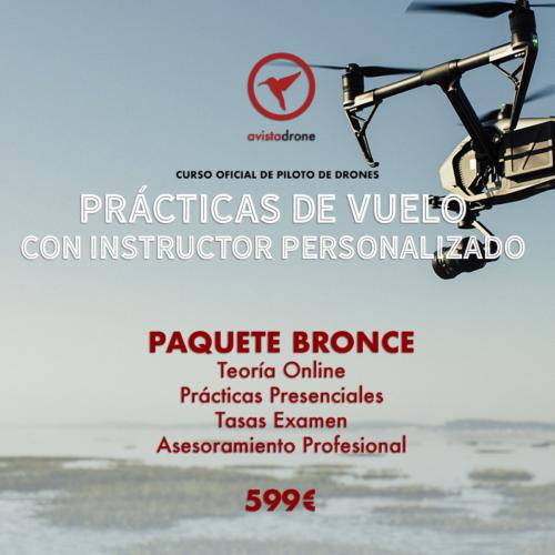 PAQUETE BRONCE: Curso de piloto de drones avanzado