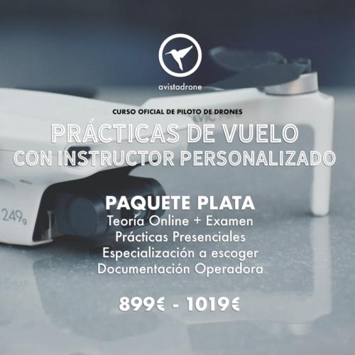 PAQUETE PLATA: Curso de piloto de drones avanzado + Especialización a Escoger + Documentación Operadora